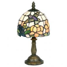Tiffany Humming Bird 1x40w 6 Inch Floral Table/Bedside  Lamp -   OT 50 HB